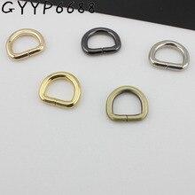 Quincaillerie danneau avec ouverture à lintérieur, anneau rond en métal, or, pour sac, brosse, 5 couleurs, 50pcs/4.0/16mm