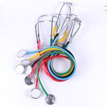 1pc portátil estetoscópio auxílio único lado emt estetoscópio clínico portátil médico estetoscópio ferramenta de equipamentos médicos