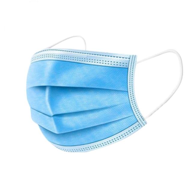 50 pieces Bag  Disposable Mask 3 Layer Non-woven Dust Face Mask Thickened Disposable Mouth Mask Dust Filter Safety Mask 1