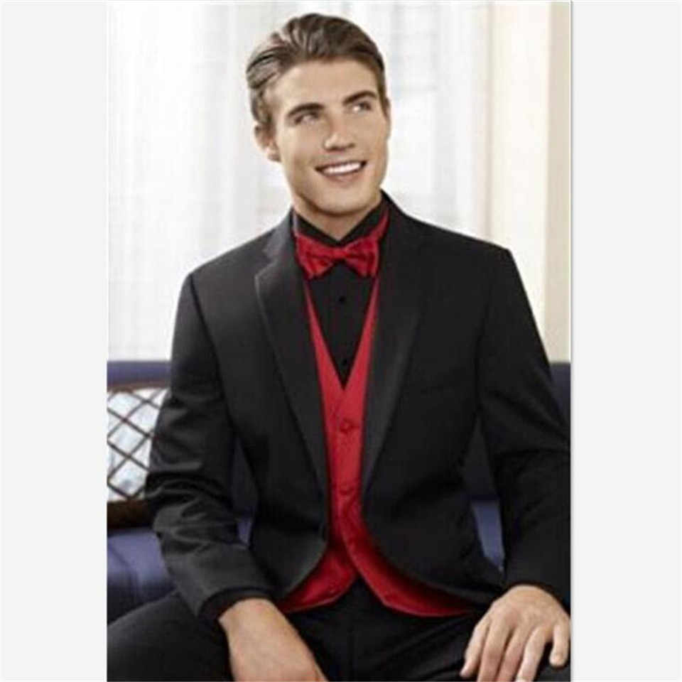 New Elegant Men S Suit Latest Coat Pant Designs Black Red Wedding Slim Fit Groom Tuxedo Custom Blazer Prom Men S Suit 3 Piece Suits Aliexpress