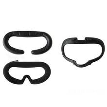 Odporna na pot maska na oczy Pad dla Oculus Quest zestaw do wirtualnej rzeczywistości skórzana flanelowa oddychająca osłona na twarz maska na oczy uchwyt akcesoria