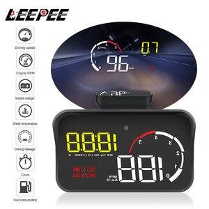 Image 1 - Auto HUD Display M10 A100 Windschutzscheibe Projektor OBD2 Überdrehzahl Warnung Multifunktions Intelligente Alarm System Fahr Sicherheit