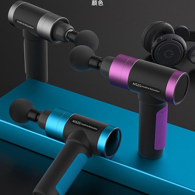 Morease LCD Display Body Massage Gun Exercising Muscle Electric Massager Gun head Massager Neck Back Vibrator Slimming Shaping