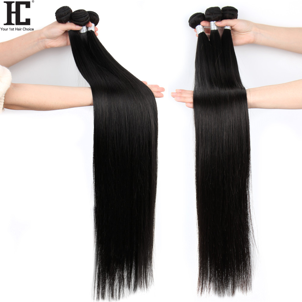 Brazilian Straight 32 34 36 38 40 Inch Weave Bundles Long Straight Human Hair Weave Remy Human Hair Extensions Natural Color