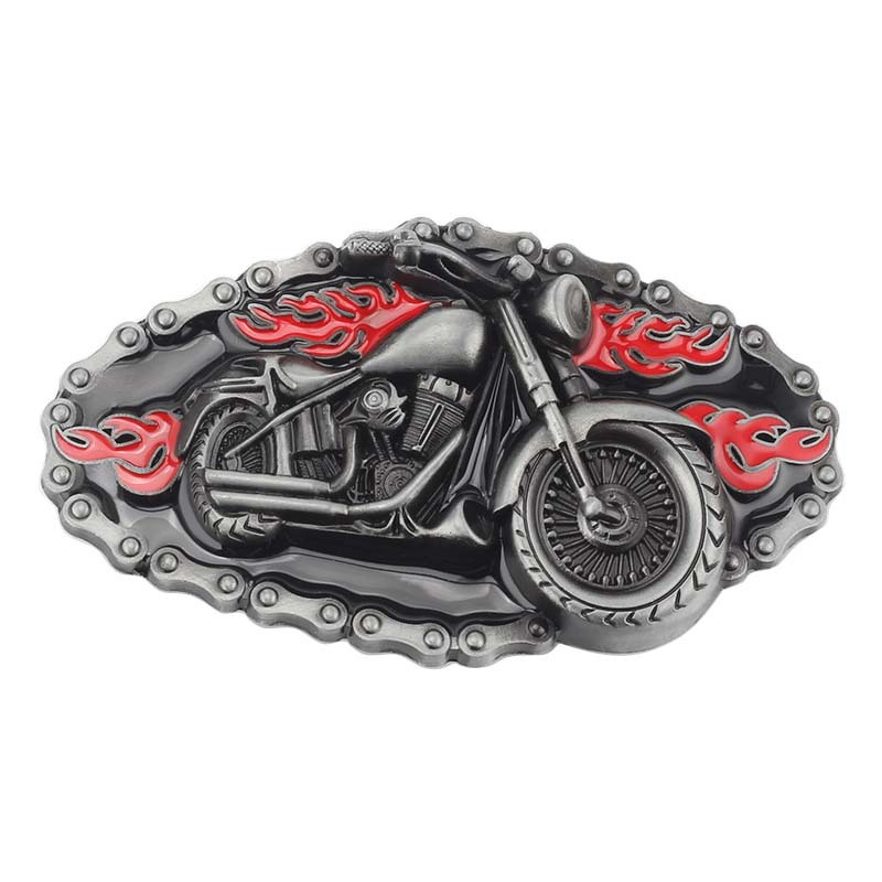 Motorcycle Locomotive Belt Buckle Handmade Homemade Belt Accessories Waistband DIY Western Cowboy Heavy Metal Rock Punk  K46