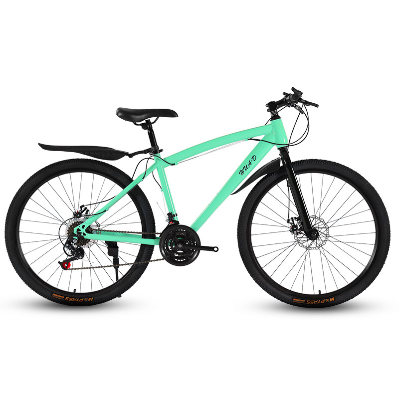 24/26-Inch Mountain Bicycle Speed Change Double Disc Brake Spoked Wheel Student Adult Shock Absorption Cross-Country Bike