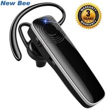 New Bee auricolare Bluetooth auricolare vivavoce Wireless Mini auricolare cuffia con microfono CVC6.0 per iPhone xiaomi Android