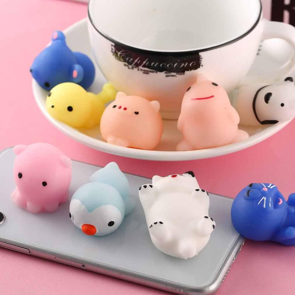 Милые Фрукты животных Дизайн снятие стресса сжимаемая, Успокаивающая детские игрушки для детей и взрослых снятие стресса игрушки