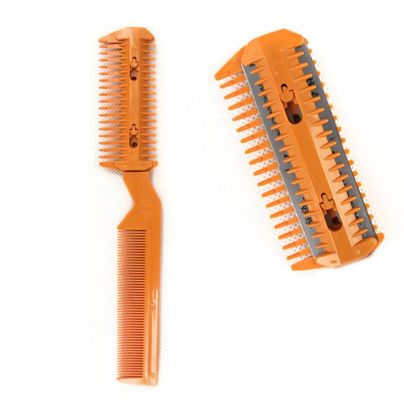 Haircut Comb Professional Scissor DIY Hair Razor Comb Hairdressing Shortening Hairdressing Bangs Trimmer Tools Thinning S8E0
