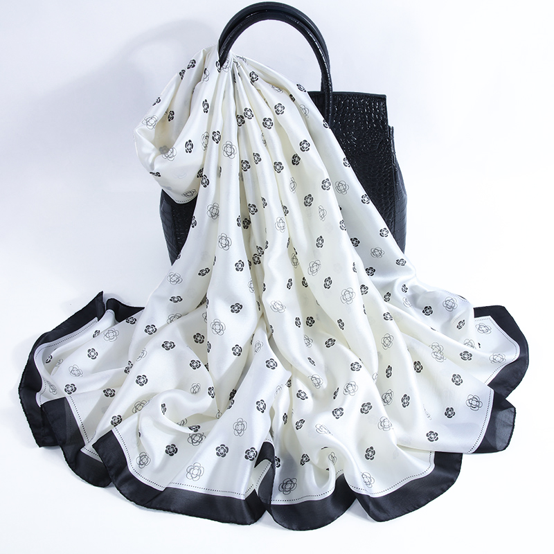 2019 Spring Autumn Winter Women Scarf 24 Patterns Printed Silk Scarves Long Shawls Luxury Brand Neck Bandana Pashmina Lady Wraps