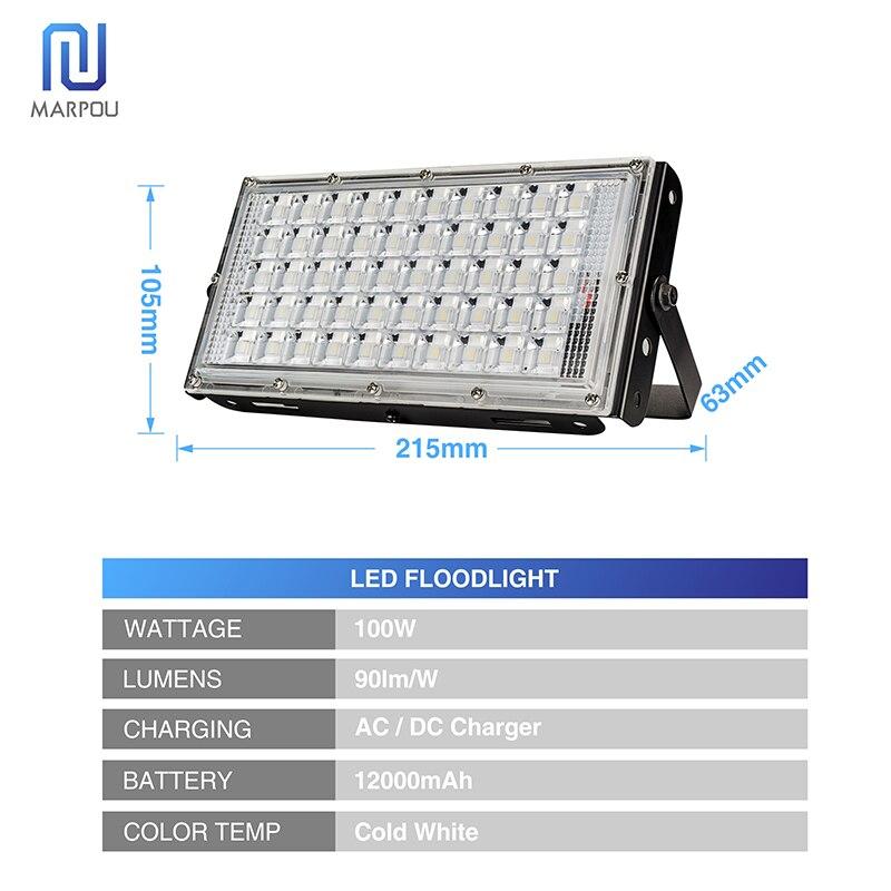 diodo emissor de luz holofote 100 w 01