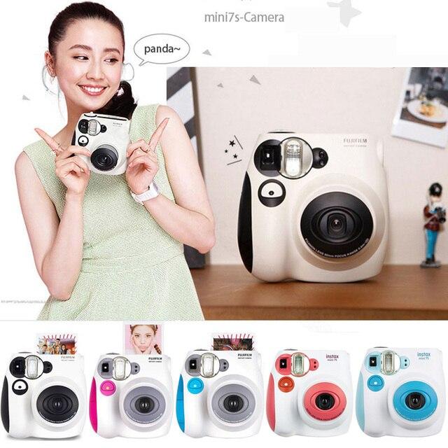 Fujifilm Instax Mini 7s anında Film fotoğraf kamerası mavi pembe siyah ücretsiz kargo, kabul Fuji Fujifilm Instax Mini Film