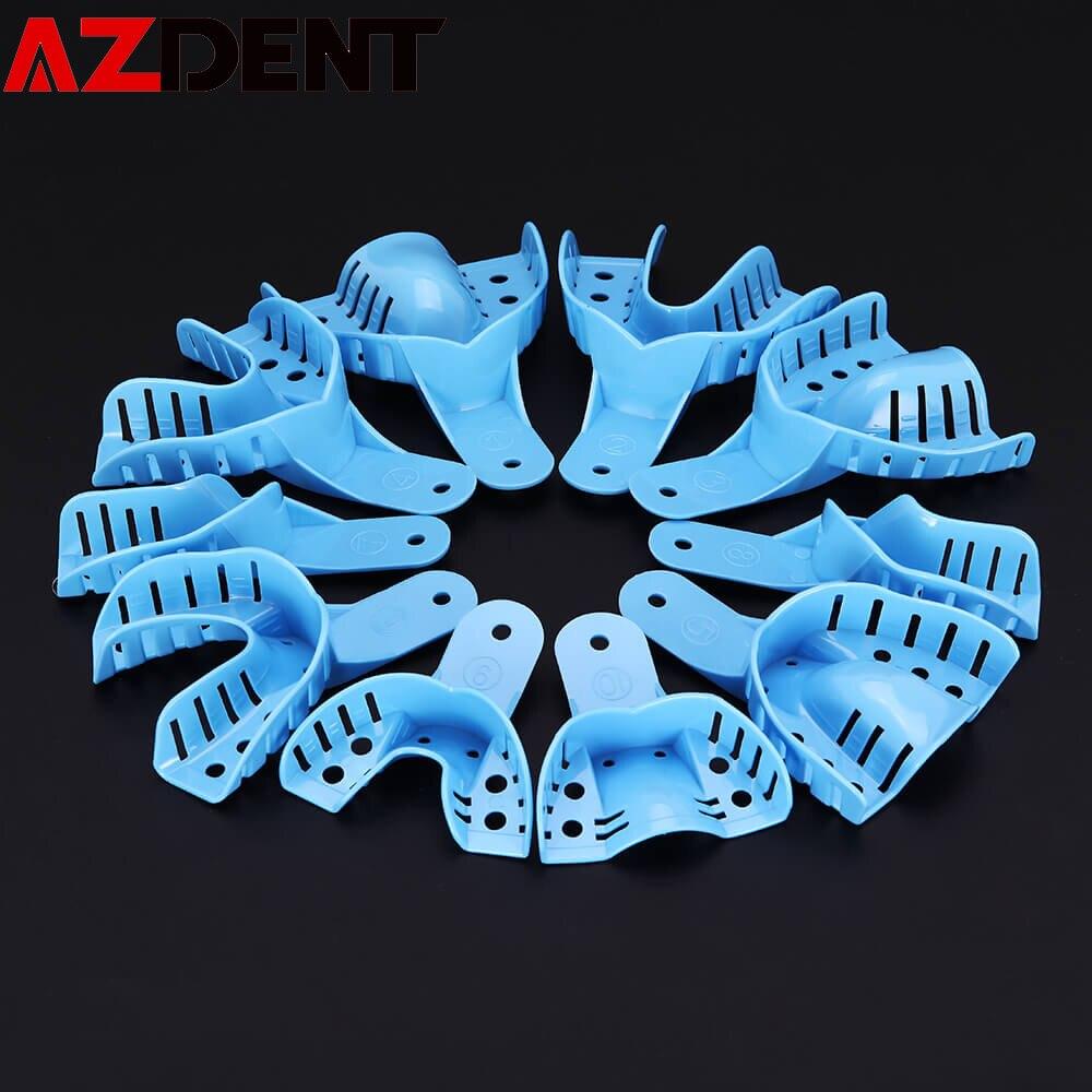 10Pcs/set Dental Impression Plastic Trays Without Mesh Tray  Impression Tray Dental Impression Tool