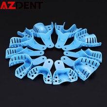 Plateaux en plastique pour Impression dentaire, 10 pièces, sans maille, outil d'impression dentaire