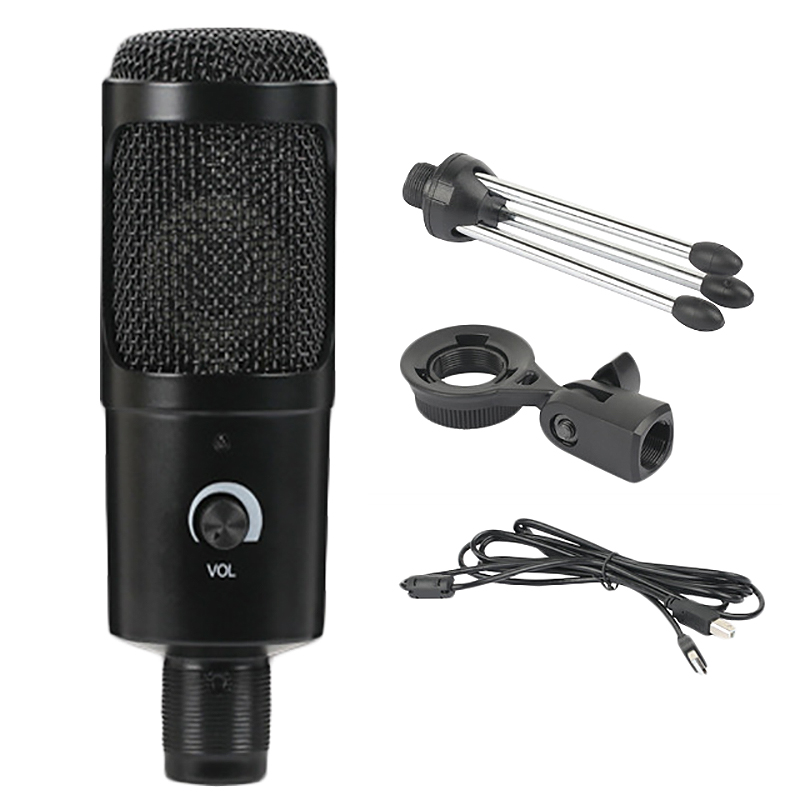OPQ-B.BMIC Metal USB Condenser Micro-phone For Laptop MAC Or Windows Cardioid Studio Recording Vocals Voice Over,YouTube,Compute