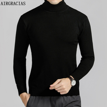 AIRGRACIAS Winter Warm Sweater Men Turtleneck Mens Sweaters Slim Fit Pullover Men Classic Knitting Fashion Pull Homme