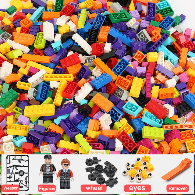 1000 Pieces City Diy Creative Brick LegoINGlys Box 106961 Educational Building Blocks Creative Kit Toys Kids