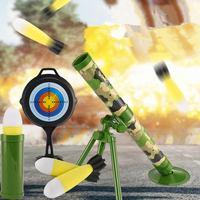 Children Mortar Rocket Launch Model Sound and Light Simulation Military Rockets Toy Outdoor Interactive Toy Kids Boys Gifts