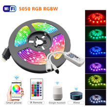 Strip-Light Adapter Ribbon Led-Light-Strip Luces Wifi Contoller RGB Flexible 5050 RGBW