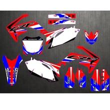 オートバイ新チームグラフィック背景デカールステッカーホンダ CRF250 CRF250R CRF450 CRF450R crf 250 450 2010 2011 2012