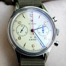 1963 assista men pilot chronograph relógio de pulso seagull st1901 mão vento movimento mecânico força aérea 38mm 40mm reloj hombre