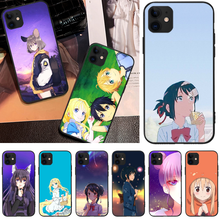 OFFeier Cute girl comics Soft black Phone Case For iPhone 5C 6 6S 7 8 plus X XS XR XS MAX 11 11 pro 11 Pro Max offeier canyon view cover black soft shell phone case for iphone 5c 6 6s 7 8 plus x xs xr xs max 11 11 pro 11 pro max