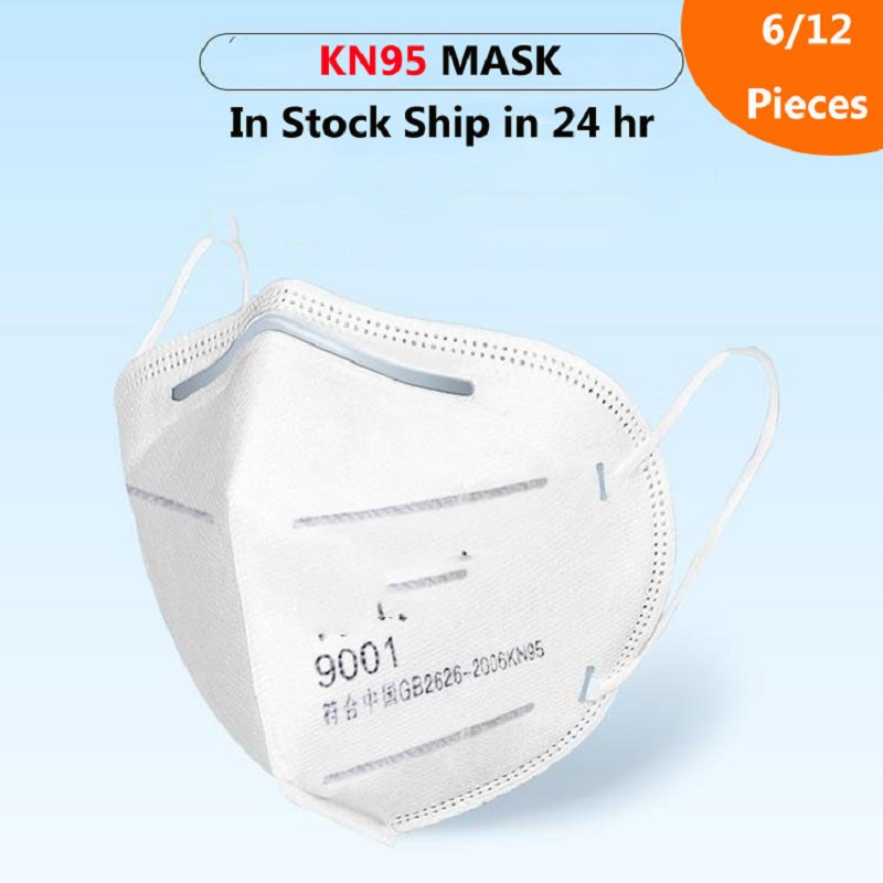 6/12 Pieces N95 Mask N95 マスク Mask KN95 Safety Protection Mask KF94  마스크  Anti Dust Anti Dust Anti Gas Mask Non-medical