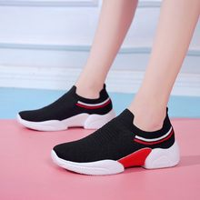 Women shoes Ladies Breathable Casual Flats Shoes Woman Comfortable Slip-on Basket Femme Sneakers Women zapatillas mujer #1031(China)