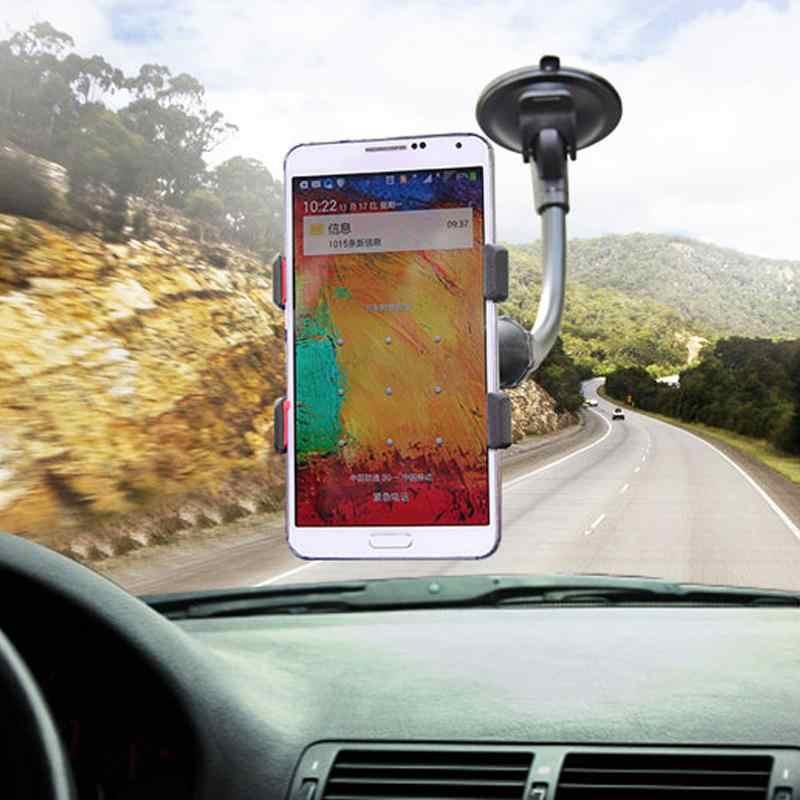 Novo assento de volta do carro encosto cabeça montagem titular preguiçoso pescoço telefone 360 rotação suporte para celular flexível braços longos clipe