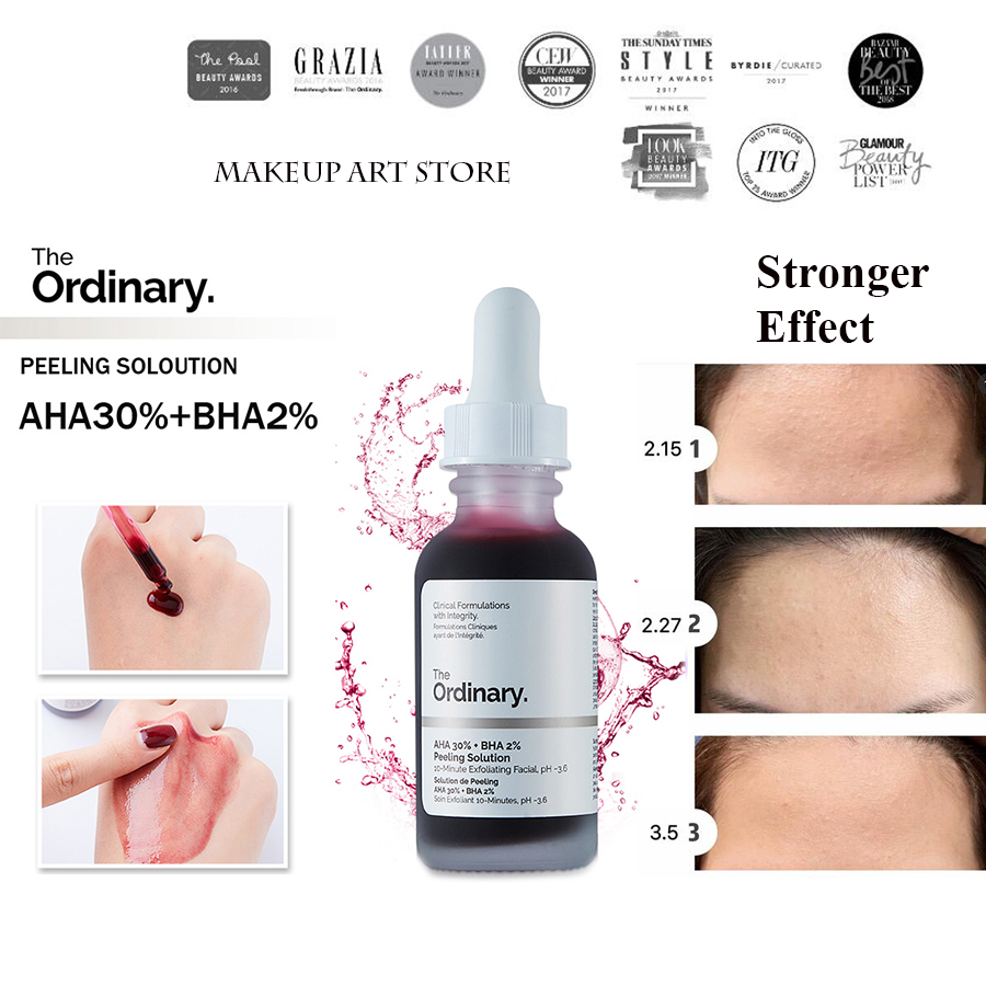 30ml The Ordinary Peeling Solution AHA 30% + BHA 2% 10mins Exfoliate Skin Care Melliferous Mask Face Serum Set Remove Acne Scar