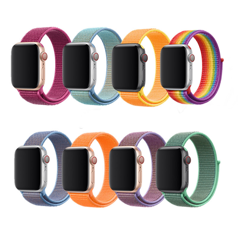 2019 New Color Woven Nylon Sport Loop For Apple Watch Band 42mm 38mm 40mm 44mm Soft Bracelet Strap For IWatch Series 4 3 2 1