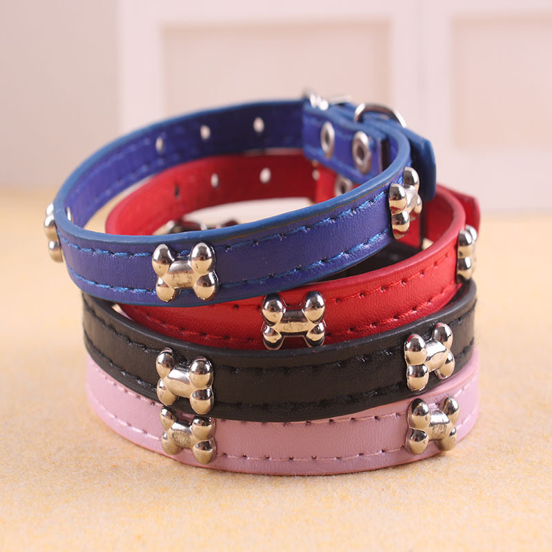 Pet Bone Neck Ring Leather Neck Ring Pet Dog Neck Ring Collar Large And Medium Small Dogs Pet Supplies