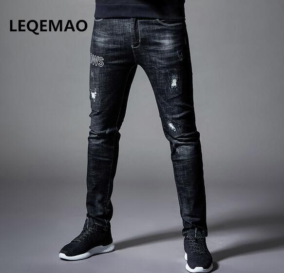 2019 HOT Winter Black High-elastic Jeans Maa1 Men's Pants Slim Jeans Teen Men's Casual Jeans XD622-1-9