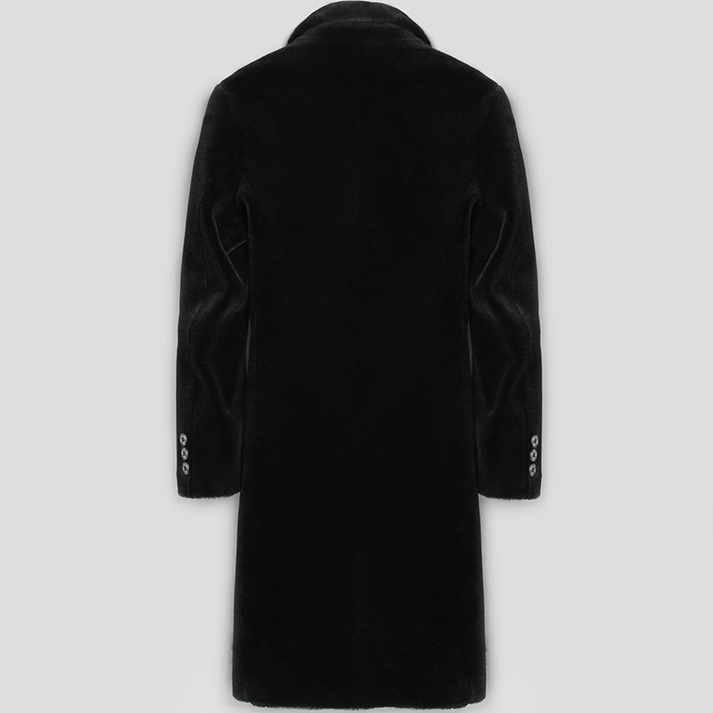 Autumn Winter Real Fur Coat Men Sheep Shearing Jacket 100%Wool Coat Long Blazer Warm Jackets Erkek Mont LSY070160 KJ1283