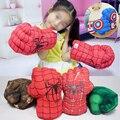 Marvel avengers final super-herói figura homem aranha hulks homem de ferro cosplay luvas de boxe menino presente hulk luvas