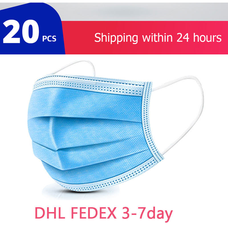 5/10/20/50Pcs/Pack 3 Layer Anti-Pollution Face Dust Mask Thickened Disposable Mouth Masks Protective Mask Filter Safety Mask