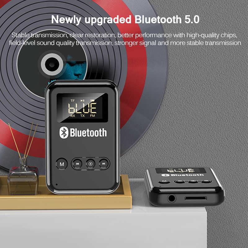 Receptor y transmisor de música estéreo, Universal por Bluetooth 5,0, auriculares con adaptador de altavoces, tarjeta TF de apoyo