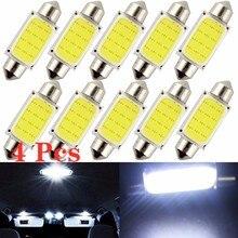4 pçs/lote 31mm 36mm 39mm 41 milímetros Carro COB 1.5W DC12V Lâmpada Interior Luzes de Abóbada Interior Do Carro Lâmpadas LED