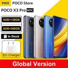 "Global Version POCO X3 Pro 128GB / 256GB Snapdragon 860 Smartphone NFC 6.67"" 120Hz DotDisplay 5160mAh 33W Charge Quad Camera"