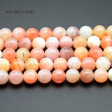 "Red Botswana Agates Natural Round Loose Beads Stone 15"" Pick 6-12mm Spacer For Charm Bracelet Necklace Jewelry Making"
