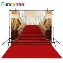 Allenjoy fondo de la boda fotografía clásico Palacio alfombra roja vintage escalera profesional backdrops photobooth photo studio