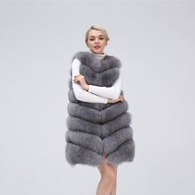 Fox vest Natural Fur Coat For Jacket female coats Womens Clothing Real Leisure