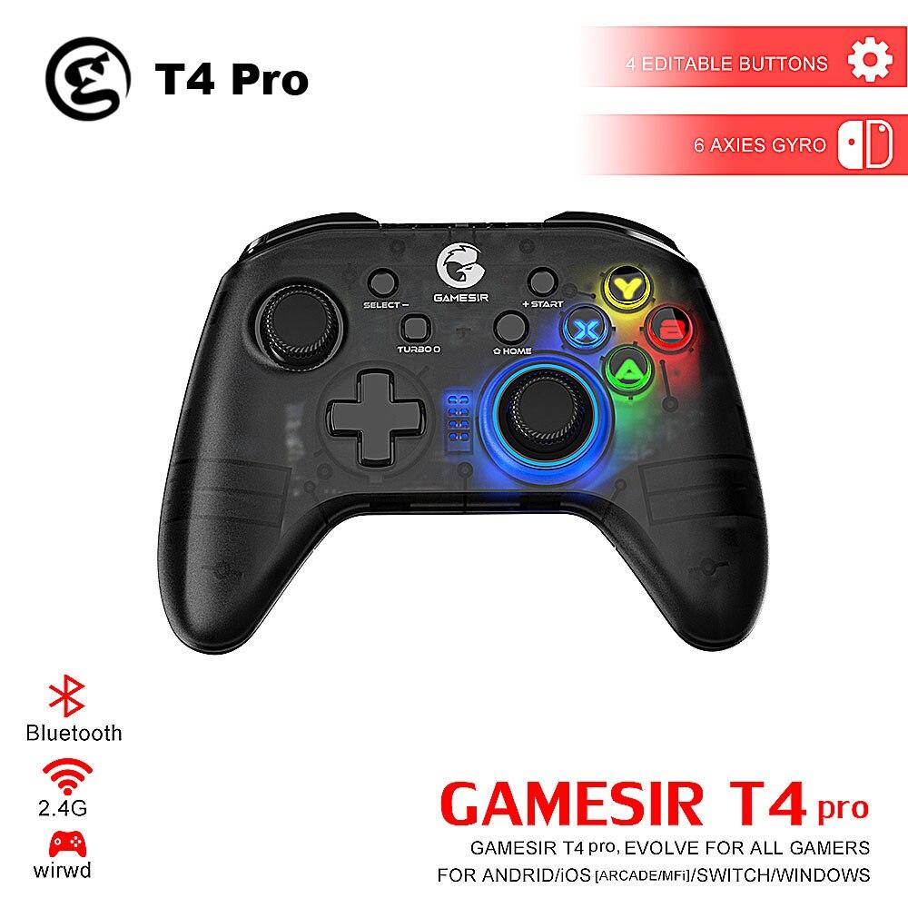 Manette de jeu GameSir T4 Pro / T4W manette 2.4 GHz pour jeu sur PC avec récepteur USB manette filaire pour Windows (7/8/9/10)