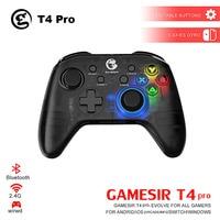 GameSir T4 Pro / T4W Gamepad Controller 2.4 GHz Joystick per il Gioco per PC con Ricevitore USB Wired Gamepad per Finestre (7/8/9/10) PC