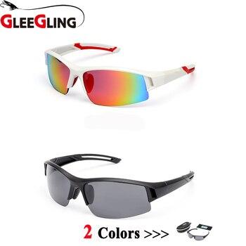 GLEEGLING elegante Pesca deportes al aire libre gafas de sol polarizadas anti-UV ajuste gafas Pesca gafas