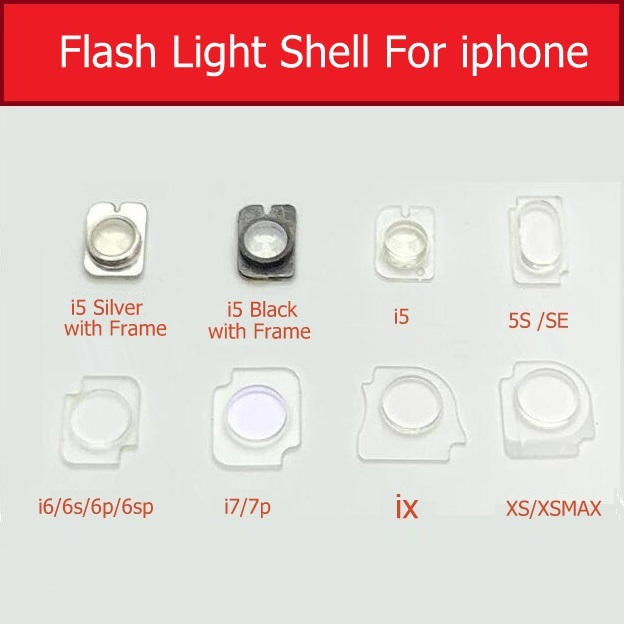 Flash Light Shell Flex Plastic Bracket Clip For IPhone 5 5s Se 6 7 Plus X Xs Max Flash Light Plastic Ring Holder Repair Parts