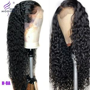 Brazilian Water Wave Wig 13*4 Lace Front Human Hair Wigs Pre Plucked 30inch 4X4 Lace Closure Wig 150% Density Remy Modern Show(China)