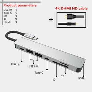 Image 3 - 7 in einem TYPE C Docking Station PD USB Hub Multi Oberfläche Carbon Laptop HDMI high speed port für Lenovo Samsung dock Macbook Pro