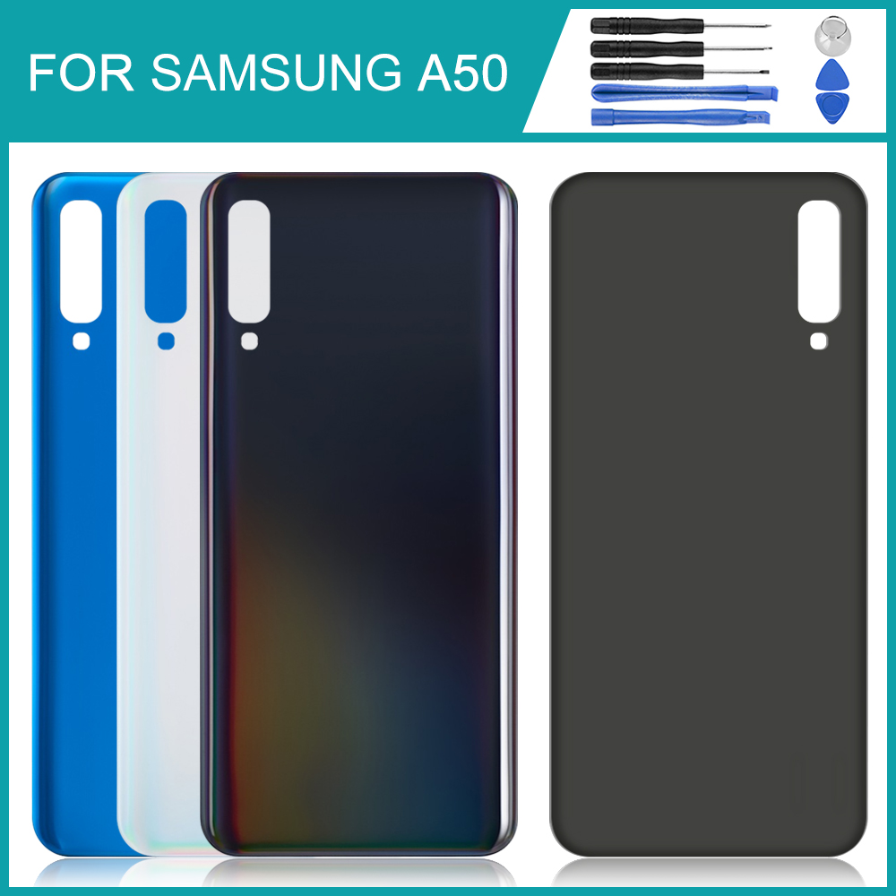For <font><b>Samsung</b></font> Galaxy <font><b>A50</b></font> <font><b>back</b></font> <font><b>cover</b></font> battery case <font><b>back</b></font> <font><b>cover</b></font> Galaxy <font><b>A50</b></font> 2019 <font><b>A50</b></font> A505 A505F battery <font><b>cover</b></font> door and <font><b>back</b></font> <font><b>cover</b></font> image