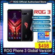Offizielle Original ASUS ROG Telefon 3 Globale ROM 512GB Snapdragon 865/865 + 144Hz 6000mAh 64MP ROG3 NFC 5G Gaming Smartphone ZS661KS